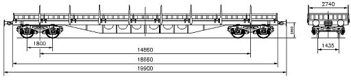 WAGON, FLAT, 4-AXLED Res type