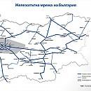 Карта на железопътна мрежа в Република България