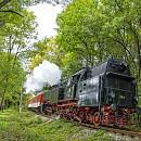 Парен локомотив 46.03 при атракционно пътуване от Банкя за София