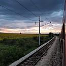 Пейзаж от влака Пловдив - София / Автор: Катрин Моллова