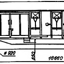 WAGON, ROOFED, 4AXLED, Gabs type
