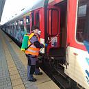 Допълнително обработване на вагони с дезинфекционни материали