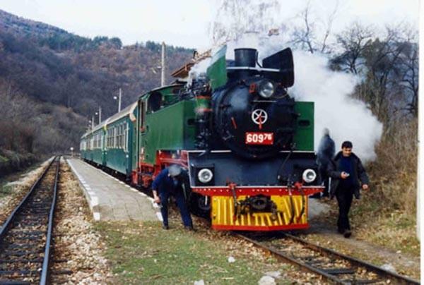 Музеен теснопътен парен локомотив 60976