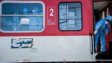 Засилва се контрола по спазването на противоепидемичните мерки във влаковете