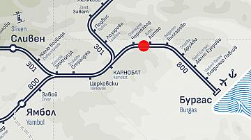 Бързият влак от София за Бургас престоява в междугарието Черноград-Айтос