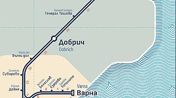 БДЖ ще възстанови движението на влаковете между Добрич и Варна